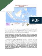 Peta Persebaran Gunung API Di Indonesia