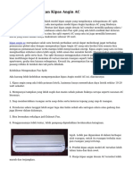 Manfaat & Perawatan Kipas Angin AC