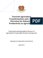 Towards Agriculture Transformation