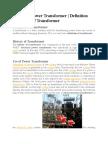 TRANSFORMER PRINCIPLE AND TYPES OF TRANSFORMER