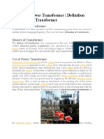 TRANSFORMER PRINCIPLE AND TYPES OF TRANSFORMER