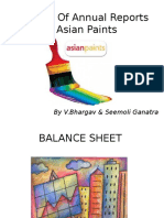 A Study of Annual Reports of Asian Paints Bhargav