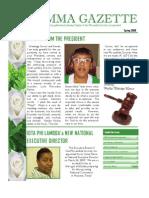 Gamma Gazette, Spring 2009 issue