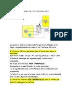 Diagrama Eléctrico de Control Para Aire Acondicionado