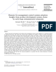 Reasons for management control systems adoption: Insights from product development systems