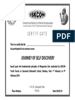 Certificate - journey of self discovery