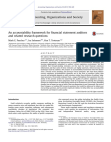 An accountability framework for financial statement auditors and related research question