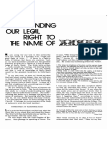 Kenneth E Hagin - Leaflet - Understanding Our Legal Right to the Name of Jesus