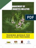 Diabetes CPG Training Module