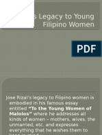 Rizal's Legacy to Young Filipino Women