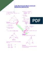 Resolucion de Triangulos Oblicuangulos Problemas Resueltos