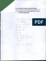 Modelarea Analitica Si Experimentala a Sistemelor - Janetta Culita