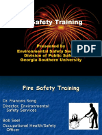 Fire Safety Training in factory