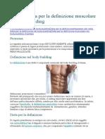 Esempio Dieta Per La Definizione Muscolare Nel Body
