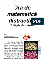 proiect educational-Planse-Ora de Mate Distractiva-unitati de Masura