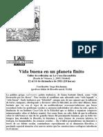 Vida Buena en Un Planeta Finito La Casa Encendida Dic 2011