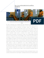 El Premio Pritzker y La Continuidad de La Política Habitacional Subsidiaria - Daniel Meza