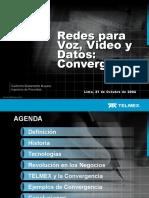 Redes Para Voz,Video y Datos- Convergencia - 211004