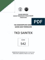 SBMPTN SAINTEK 2014