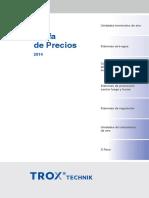 TROX Lista de Precios 2014