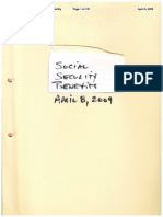 Social Security Application for Benefits,  April 8, 2009, Approved on August 26, 2009 with a Check for 21,400.00 for 1 Year of Retroactive Benefits - Declared Disabled on December 1, 2005 for Symptoms and Illnesses Related to U.S. Sponsored Mind Control