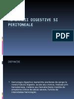 Chirurgie Hemoragii Digestive Si Ocluzii