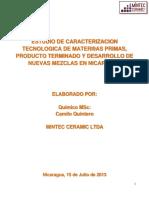 Caracterizacion Materias Primas Nicaragua Final