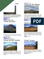 Volcanes de El Salvador