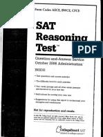 2006年10月SAT真题-SAT小帮手整理