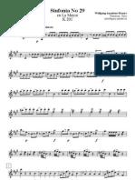 Sinfonía 29 (violín I)