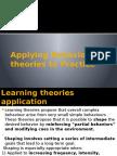 Applying Behavioural Theories to Practise