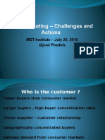 B2B Marketing - 1 a. Overview of Challenges & Actions , MET Institute