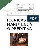 Manutenção Preditiva - Trabalho Escrito