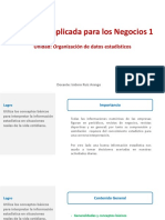 U1 S1 1.Organizacion de Datos Estadisticos Generalidades y Conceptos Basicos