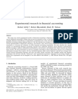 Experimental research in financial accounting