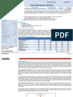 Claris Lifesciences Ltd Report