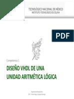 1.2 - Diseño VHDL ALU