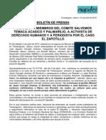 Boletin de Prensa 9 de Abril de 2010