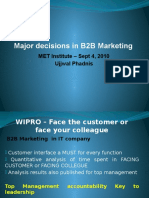 B2B Marketing - 4. Major Marketing Tools , MET Institute