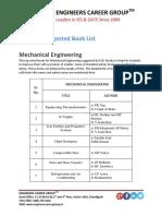 IES Books List Mechanical Engineering