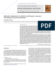Subjective adjustments to objective performance measures: The influence of prior performan