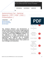 Autonomous Car , Seminar Reports _ PPT _ PDF _ DOC _ Presentation _ - Seminar Report,PDF,PPT,Doc,Topics,Free Download