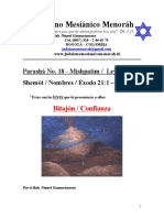 Parasha No.18 Mishpatim Bitajon Confianza