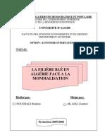 Filière Blé en Algérie face a la Mondialisation
