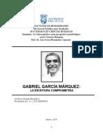 Analisis Biografico Gabriel García Márquez, Una Escritura Comprometida