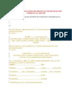 Les Modifications Orthographiques Et Phonetiques Des Verbes Du 1er Groupe