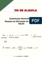 Haletos de Alquila Substituição e Eliminação