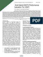 Fhss Dsss and Hybrid Dsfh Performance Evaluation for Vsat