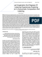 Layers of Visual Imagination and Degrees of Subjectivity in Listening Experiences Exploring Visual Imagination in Acousmatic Composition and Listening