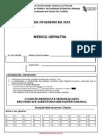 Prova Geriatra Paraná